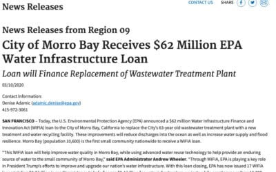 EPA.gov News Releases: City of Morro Bay Receives $62 Million EPA Water Infrastructure Loan