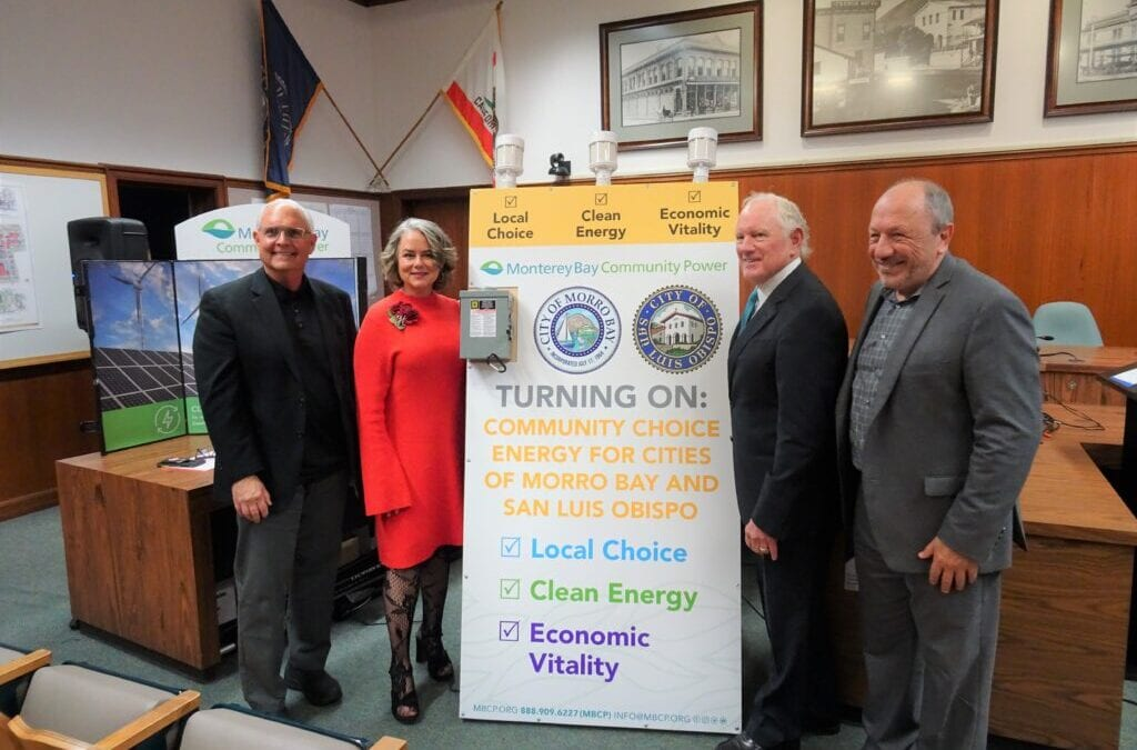 Monterey Bay Community Power Becomes Primary Electricity Provider for Cities of Morro Bay and San Luis Obispo