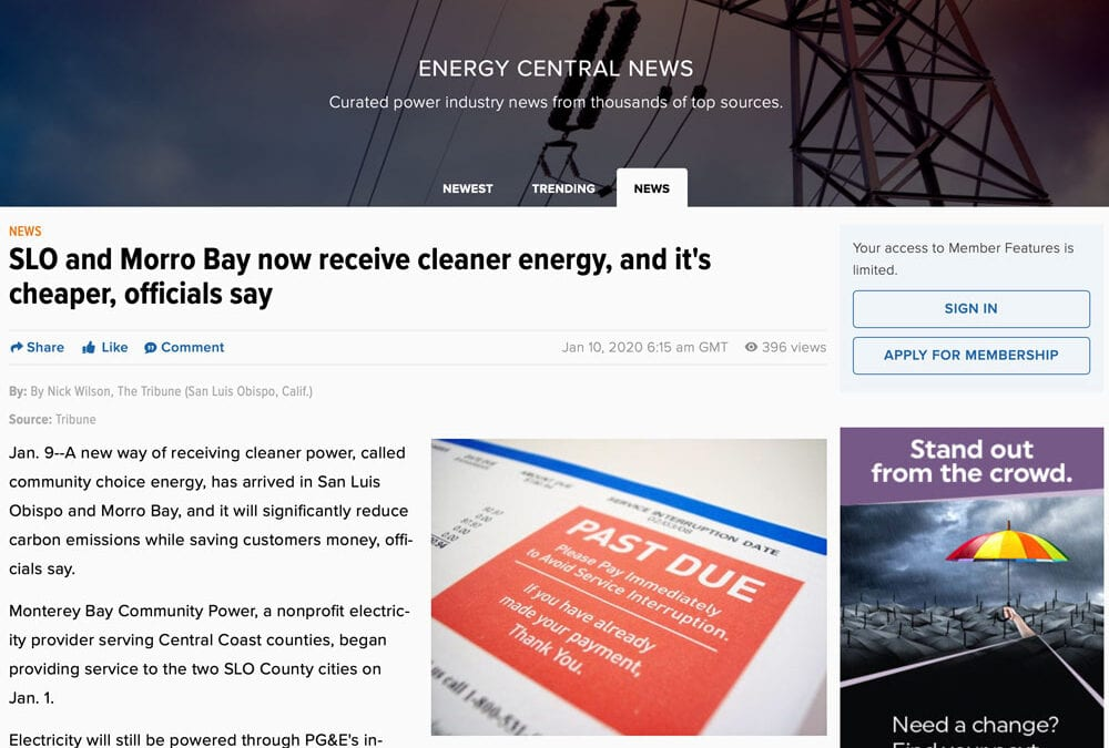 SLO and Morro Bay now receive cleaner energy, and it's cheaper, officials say